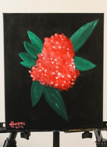 "Air 2 of the Air Series, Acrylic on 12x14"" canvas"