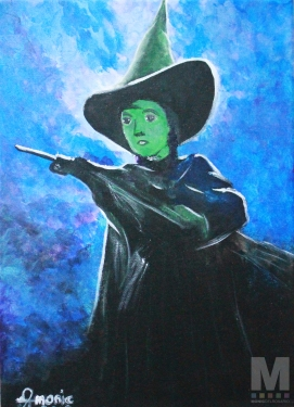 "Elphaba, Acrylic on 10x14"" canvas"