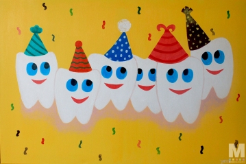 Happy Teeth, Acrylic on canvas