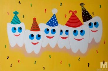 Happy Teeth, Acrylic on canvas