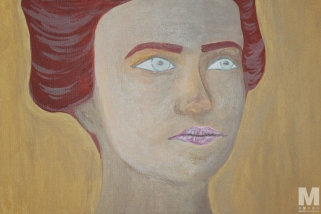 "Portrait, Acrylic on 14x18"" canvas"