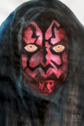 Darth Maul, Watercolor on 110gsm paper