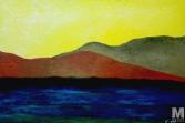 "Ripple, Oil on 20x30"" canvas"