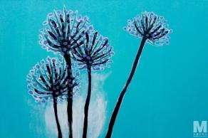 "Frost, Acrylic on 14x18"" canvas"